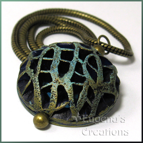 Openwork Polymer Clay Pendant
