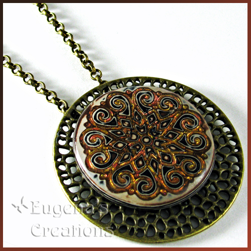 Polymer Clay Filigree Necklace