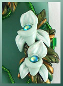 Polymer Clay, Sculpted Mini Orchids 3